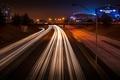 Картинка дорога, свет, ночь, огни, скорость, Стадион