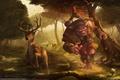 Картинка Лес, охота, олень, гоблин