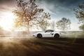 Картинка Porsche, Sky, Sun, White, Side, Supercar, Cayman S, Skid
