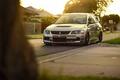 Картинка Car, Mitsubishi, Lancer, Ligth, Evolution 9, Sun, Stance, Front, Evo IX, Grass