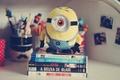 Картинка глаз, фото, фон, обои, настроения, игрушка, книги, карандаши, ручки, книжка, карандашница