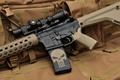 Картинка оружие, оптика, punisher, каратель, штурмовая винтовка, assault rifle, череп, автомат