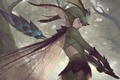 Картинка лес, жезл, девушка, фэнтези, крылья, фея
