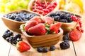 Картинка strawberry, смородина, голубика, чашка, ягоды, berries, fresh, ежевика, клубника