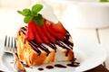 Картинка торт, food, cake, десерт, dessert, mint, сладкое, ягоды, strawberries, крем, клубника, chocolate, еда, пирожное, шоколад, ...