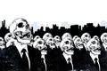 Картинка жители, толпа, черепа