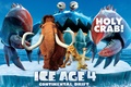 Картинка ленивец, краб, movie, анимация, animated film, айсберг, Ice age 4, Diego, Континентальный дрейф, Manny, Ледниковый ...