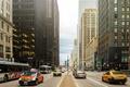 Картинка машины, движение, люди, улица, здания, небоскребы, америка, чикаго, Chicago, сша, центр, высотки