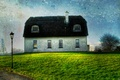 Картинка Home, Wallpaper, Green, Blue Sky, Traditional, Thatched Roof, Landscape, Street Lamp, Irish, Grass