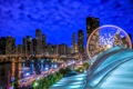 Картинка Чикаго, Navy Pier, небоскрёбы, ночной город, Chicago, Lake Michigan, озеро Мичиган, Illinois, озеро, Иллинойс, здания, ...