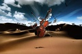 Картинка пустыня, скрипка, клавиши, барабан, Музыкальные инструменты