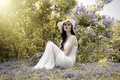 Картинка девушка, весна, сирень