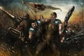 Картинка Epic Games, война, Minh Young Kim, Dominic Santiago, Anya Stroud, арт, gears of war, marcus ...