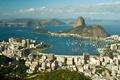 Картинка причал, Бразилия, залив, город, Рио де Жанейро