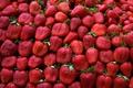 Картинка green, red, pattern, leaves, fruit, strawberries