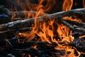 Картинка огонь, костер, хворост