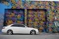 Картинка E Class, белый, граффити, тюнинг, тонировка, сбоку, Mercedes