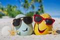 Картинка eggs, glasses, happy, beach, funny, cute, summer, tropical