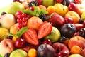 Картинка fruits, персики, черешня, ягоды, berries, фрукты, fresh, сливы, клубника