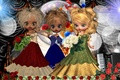 Картинка артисты, artists, the trio scene, Dolls concert, сцена, концерт, Куклы, трио