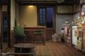 Картинка Kusanagi, кухня, камната, вечер, стулья, art, продукты, окно, стол