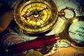 Картинка ancient map, древняя карта, coins, лупа, старинный, путешествие, монеты, композиция, wallpaper., боке, компас, размытость, travel