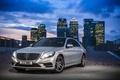 Картинка BlueTEC, S300 W222, серебристый металлик, Mercedes-Benz, 2014, фары, город