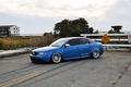 Картинка quattro, tuning, blue, low, wheels, germany, audi, stance