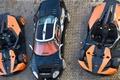 Картинка Spyker c8, верх, черный, оранжевые