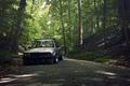 Картинка серый, E30, дорога, бмв, grey, лес, 3 серия, BMW, sedan