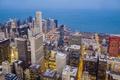 Картинка Чикаго, night, USA., Chicago, city, город