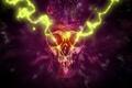 Картинка Абстракция, череп, ярость