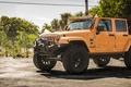 Картинка wheels, monster, jeep, orange, 4x4, offroad, jeep wrangler, big rims, tires, sahara