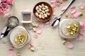 Картинка орехи, десерт, сладкое, йогурт