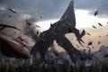 Картинка война, вертолет, mass effect, art, helicopter, жнецы, fan, Reaper
