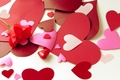 Картинка цветы, настроения, бумага, сердце, сердечки, бумажные, любовь, цветок, роза