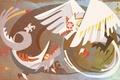Картинка дракон, рисунок, kemono no souja erin, птица