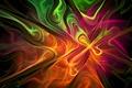 Картинка цвет, дым, фрактал, свет, газ, узор