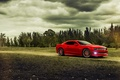Картинка красный, red, muscle car, Camaro, деревья, камаро, шевроле, Chevrolet, мускул кар