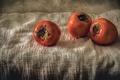 Картинка натюрморт, фрукты, еда, обои от lolita777, ретро-стиль, обработка, хурма