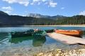 Картинка берег, лодки, красивый, фон., Черногория, черное озеро