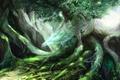 Картинка дракон, дерево, дух, природа
