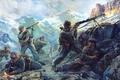 Картинка стрелки, горные, активно, боевых, участках, южных, участвовали, Советские, фронта, Великой Отечественной Войны., действиях