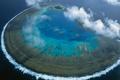 Картинка море, Большой Барьерный риф, панорама, Австралия, коралловый атолл