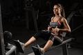 Картинка gym, fitness, brunette, workout