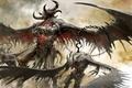 Картинка демоны, крылья, Guild Wars 2, рога, крюк, цепь