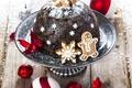 Картинка пирог, Рождество, cookies, Baking, украшение, Christmas, New Year, chocolate, печенье, pie, выпечка, decoration