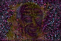 Картинка фиолетовый, лицо, графика, разводы, мистика, силуэт, психоделика, портрет_хофманн, иллюзи, hofmann_portrait