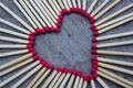 Картинка красный, сердечко, wallpapers, спички, фон, сердце, любовь, обои, форма, разное, love