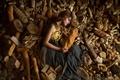Картинка Lichon, хлеб, девушка, много хлеба